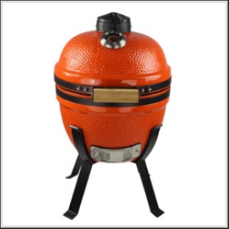 14 Inch Mini Ceramic Kamado Smoker Grills