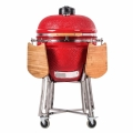 25 Inch Large Ceramic Smoker BBQ Grills with stainless steel stand